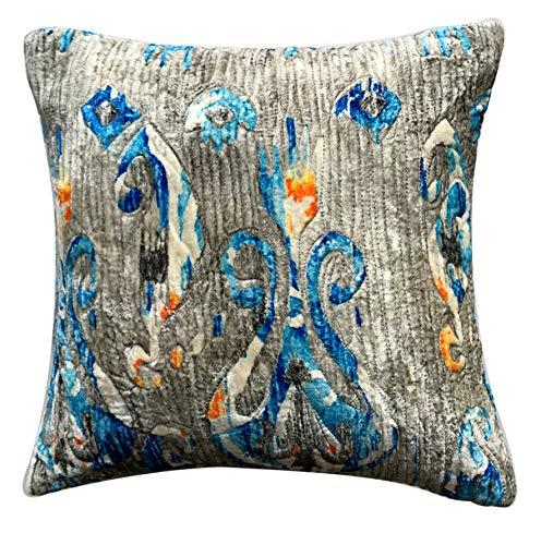 The HomeCentric Funda de Almohada Decorativa Azul Paisley ...