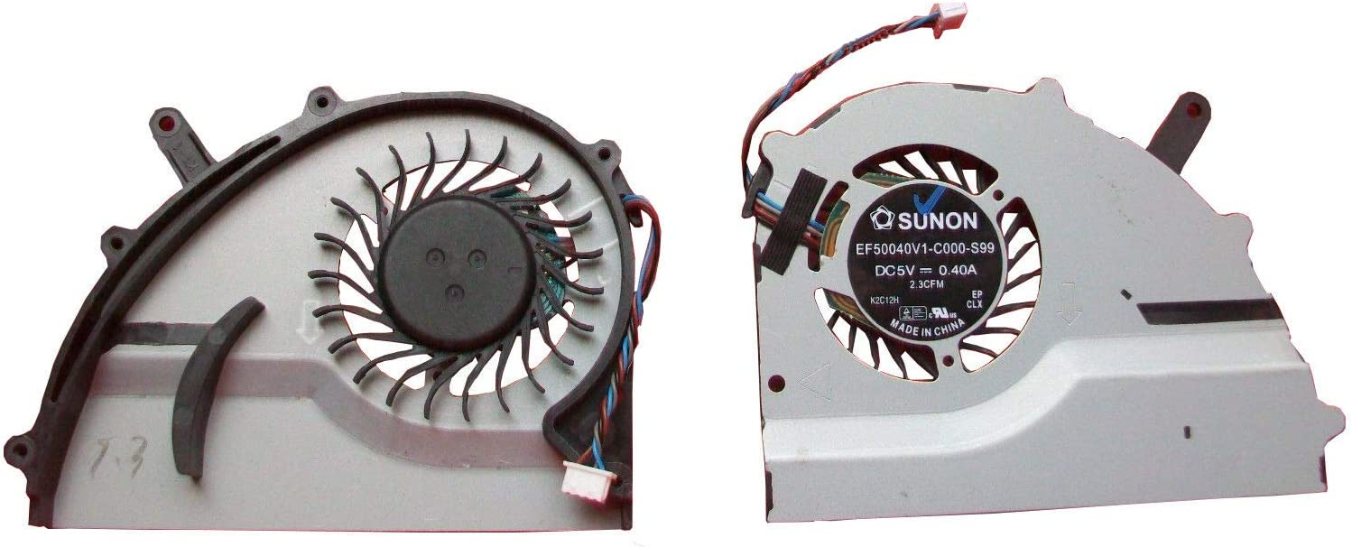 Z-one Fan Replacement for Fujitsu Lifebook UH572 Series CPU Cooling Fan EF50040V1-C000-S99 CP574665 4-Wire 4-pin