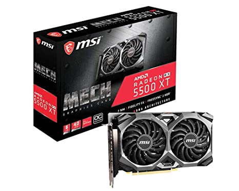 Radeon RX 5500 XT Mech 8G OC - Tarjeta gráfica Enthusiast: Amazon ...