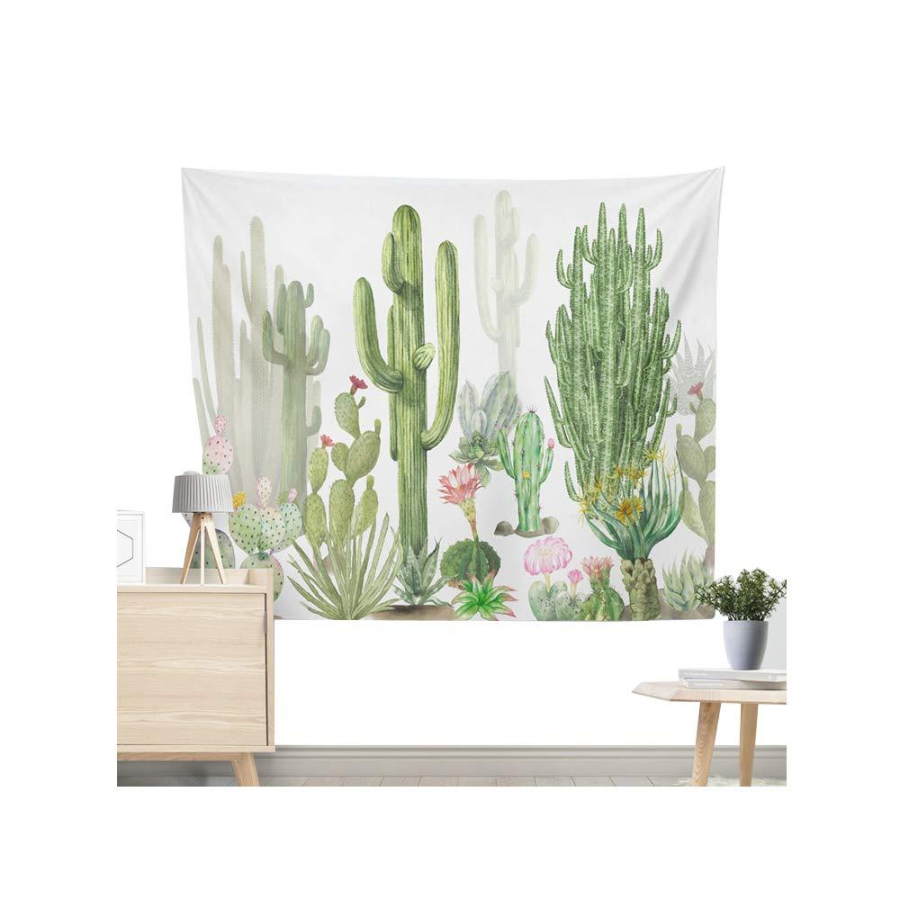 Miguor Tela de fibra de poli/éster Dacron cactus suculentas plantas tapiz toalla de playa Sit Manta Decoraci/ón del hogar 2.dark Green Cactus dacron 130 * 150cm