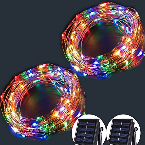 Solar String Lights,100 LED Copper Wire Fairy Blinking Twink