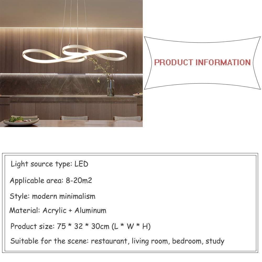 LED Esstisch Hängeleuchte , 42W 42W 42W Dimmbar mit den Fernbedienung höhenverstellbar aus Musikalische Symbole-Design Pendellampe , Acryl und Aluminium Modern Hängelampe für esszimmer , Arbeitszimmer , Wohnzimmer , Küche , Büro Pend e70776