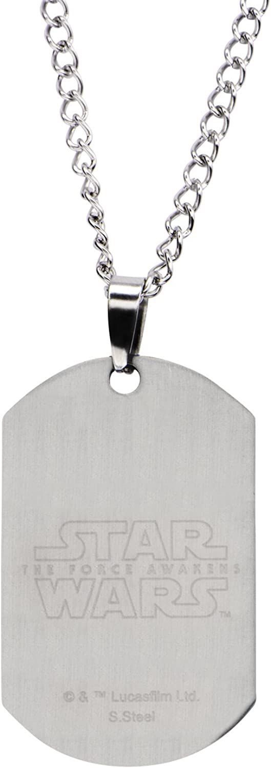 OFFICIAL STAR WARS X-WING FIGHTER DOG TAG PENDANT ON CHAIN NECKLACE BRAND NEW
