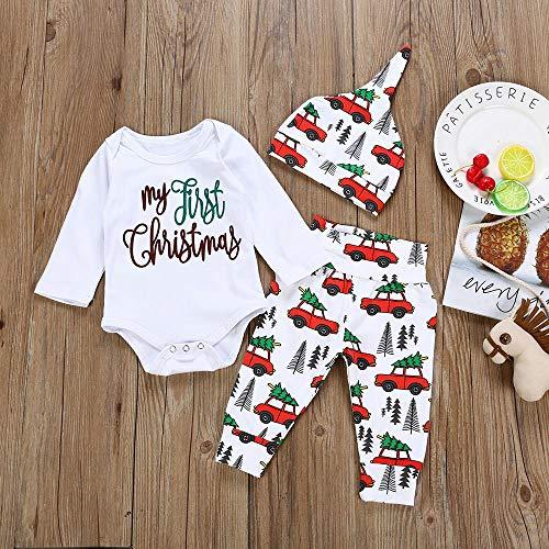 Ropa De Bebe,Ropa Bebe Recien Nacido,Infant Baby Boys Girls Cartoon Letter Print Navidad Xmas Mameluco Pantalones Trajes: Amazon.es: Bebé