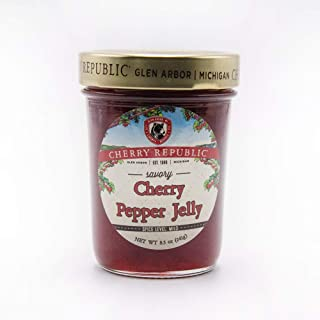product image for Cherry Republic Cherry Pepper Jelly - Generous Chunks of Michigan Tart Cherries - Spicy Jalapeño Peppers - 9 oz Jar