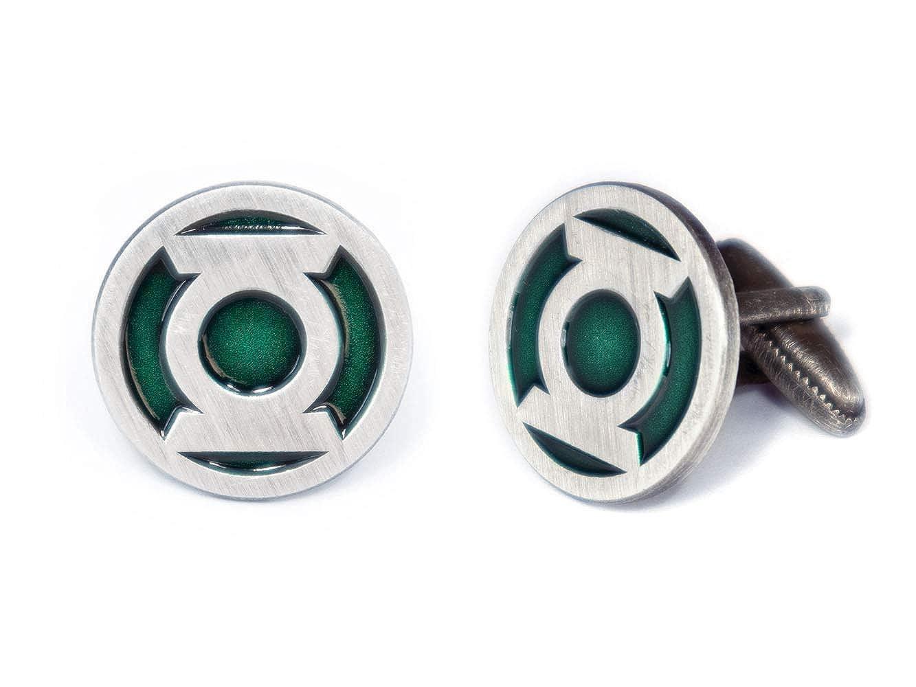 Justice League Tie Clip Green Lantern Logo Cuff Links Link Wedding Party Gift SharedImagination Green Lantern Cufflinks Batman vs Superman Tie Tack Jewelry Avengers Groomsmen Gifts