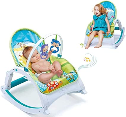 Baby Swing Vibrating Musical Bouncer Rocker Seat Chair Cradle Infant Toddler