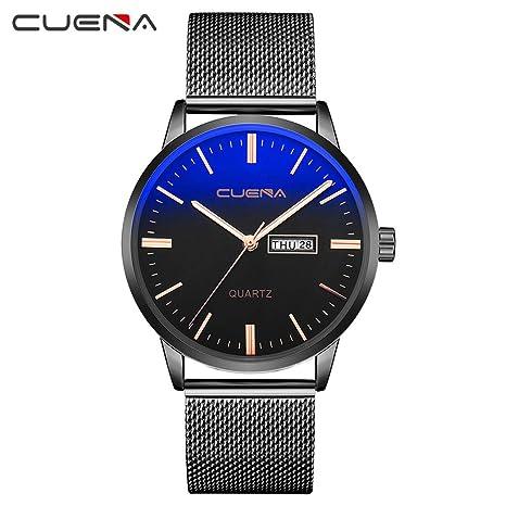 Longra Moda Reloj de Acero Inoxidable para Hombres/Reloj de ...