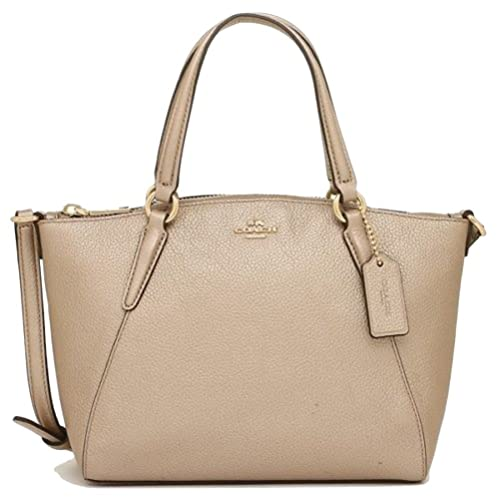 dc5a8bce167fe Image Unavailable. Image not available for. Color  COACH 22316 MINI KELSEY  SATCHEL IN METALLIC PEBBLE LEATHER