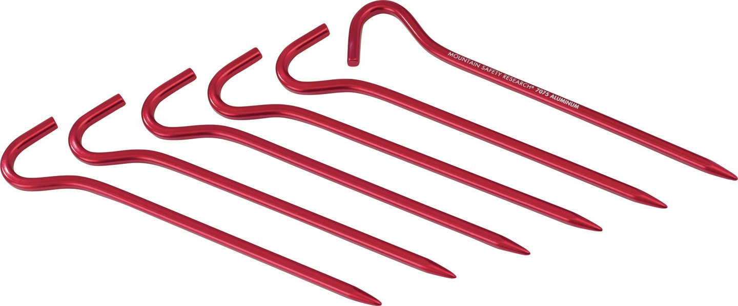 MSR - Hook Stake Kit 6 Units, Color Red 040818058114