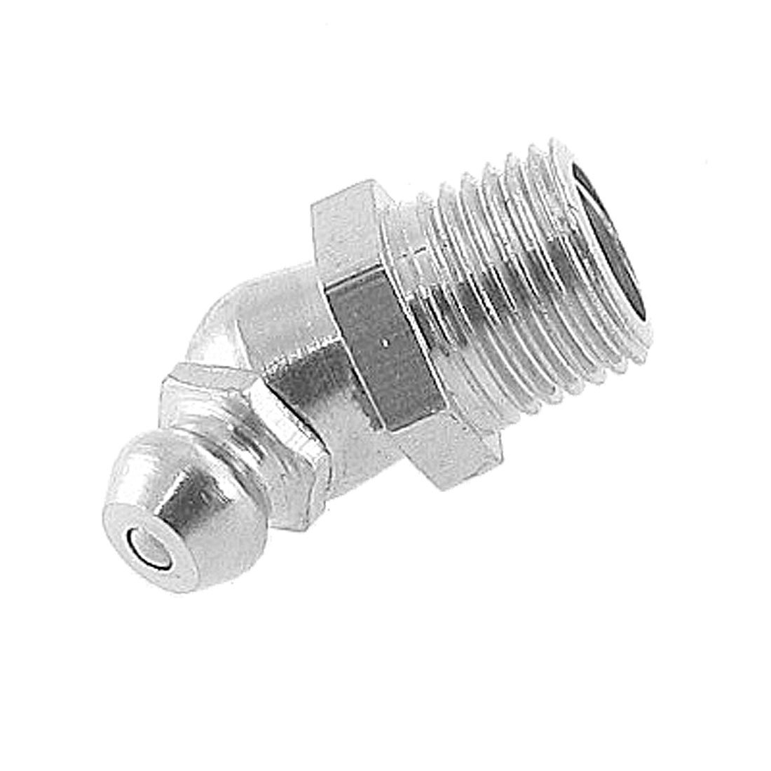 Uxcell a11121000ux0023 9.5mm 3/8' Male Thread 45 Degree Angle Zerk Fitting Grease Nipple Unknown