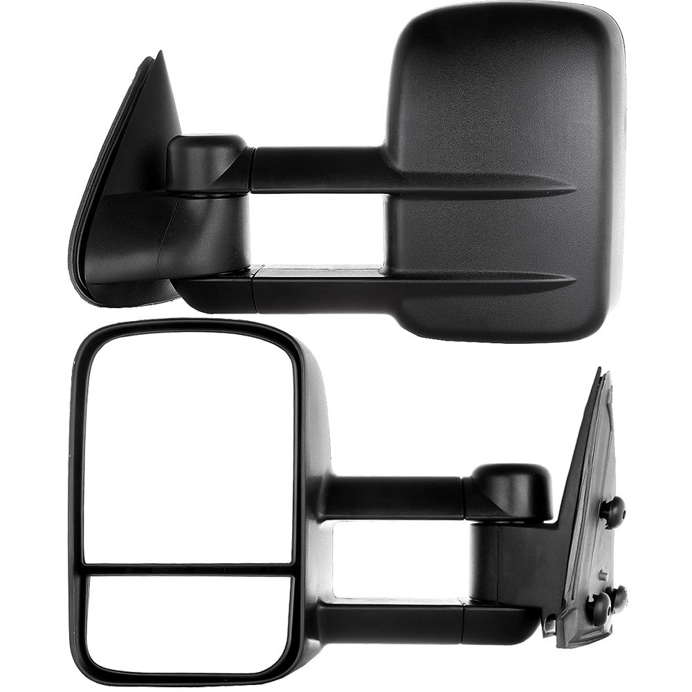 Towing Telescoping Folding Black Textured Tow Mirrors Manual with Smoke Signal and Dual Glass for 08-14 Ford F250 F350 F450 F550 Super Duty Left/&right Passenger/&driver Side View Mirror Pair Set