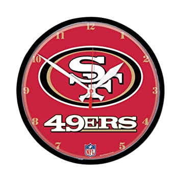 San Francisco 49ers Nfl Round Wall Clock By Wincraft