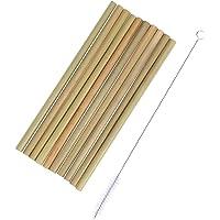 SUPVOX Pajas de beber de bambú natural 10pcs