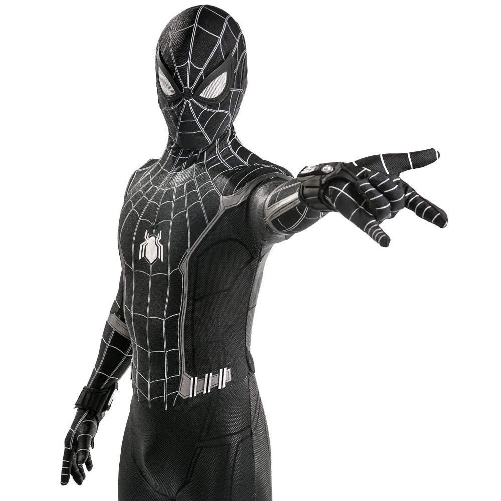 QWEASZER Spider-Man: Homecoming, Traje negro de Spiderman ...