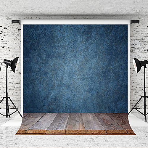 Kate 6.5x10ft Blue Texture Photography Backdrop Blue Background for Photographer Photo Studio Prop