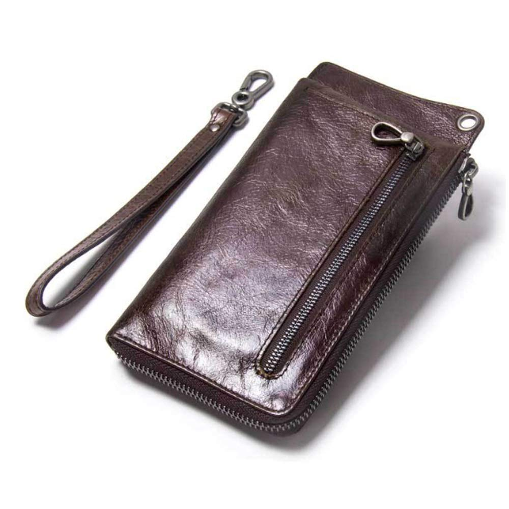 Color : Brown, Size : S MUMUWU Mens Wallet Multi-Function Casual Leather Clutch Short Purse