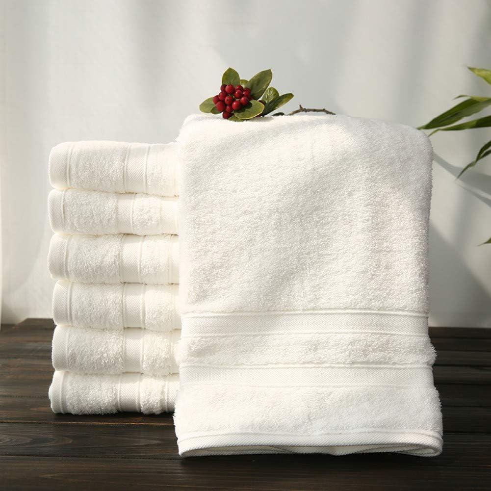 VIOYO - Toalla de baño para Toallas de Playa de algodón Egipcio para Hotel y SPA (Blanco, Juego de 3 servilletas ...