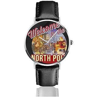 Unisex Business Casual Bienvenido al Polo Norte Relojes de Navidad ...