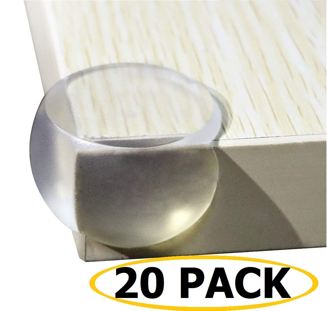 20 Pack | Baby proofing | Clear Corner Guards | Bumpers for Furniture | Small Clear Corner Protectors | Sharp Edge Protection RALPH.HALEY RHCCG01