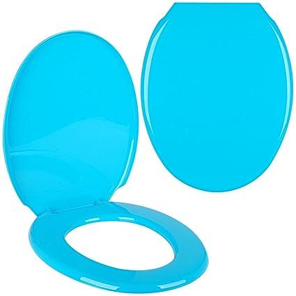 Promobo - Abattant De Toilettes Cuvette WC Design Uni Bleu ...