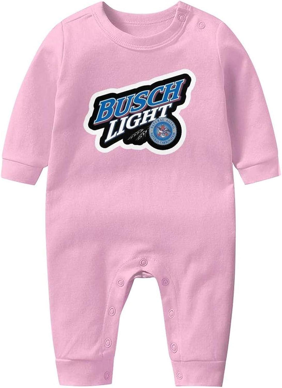 Footies for Baby Boy Girl YRHDIWOCJ Unisex Baby Funny Long Sleeve Footed Pajamas Busch-Beer-Logo