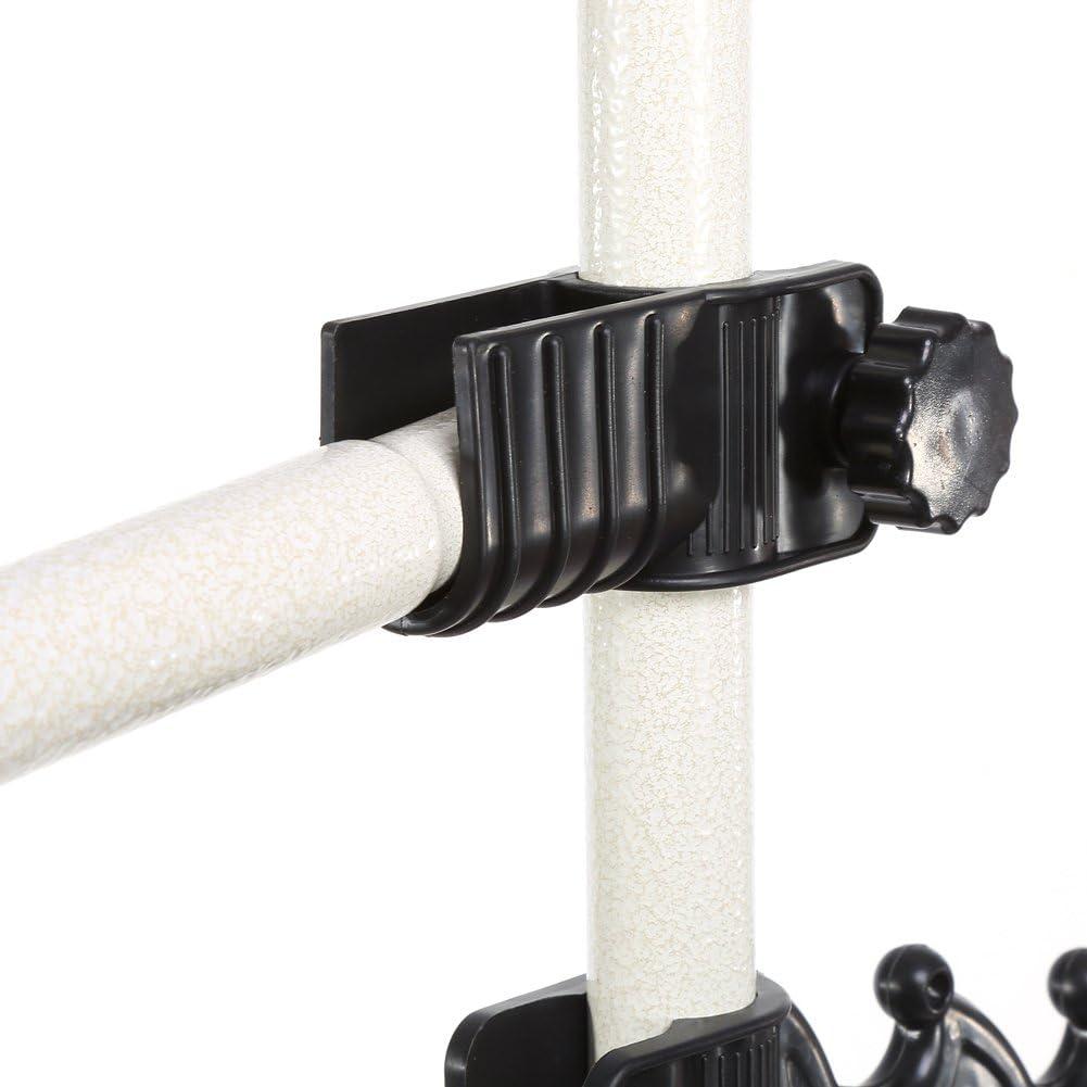Resistente Appendiabiti telescopico da Appendere al soffitto EBTOOLS 2 Poles 2 Bars