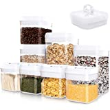 Kitsure Airtight Food Storage Container Set - 8 PC Set - Pantry Organization and Storage, Kitchen Canisters with Lids…