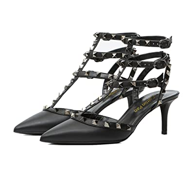 Caitlin Pan Donna Pointed Toe Sandalo Strappy Sandalo Toe Studded   4360be