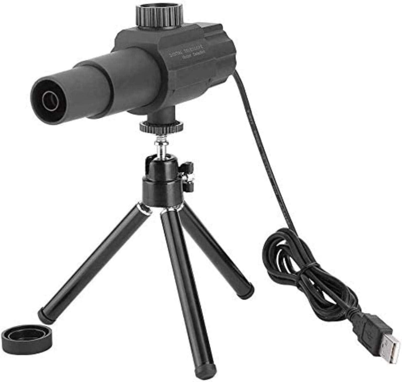 SLM-max Telescopio HD,Digital USB con Zoom de 2MP 70X, Lente de cámara con de detección de Movimiento Inteligente con trípode
