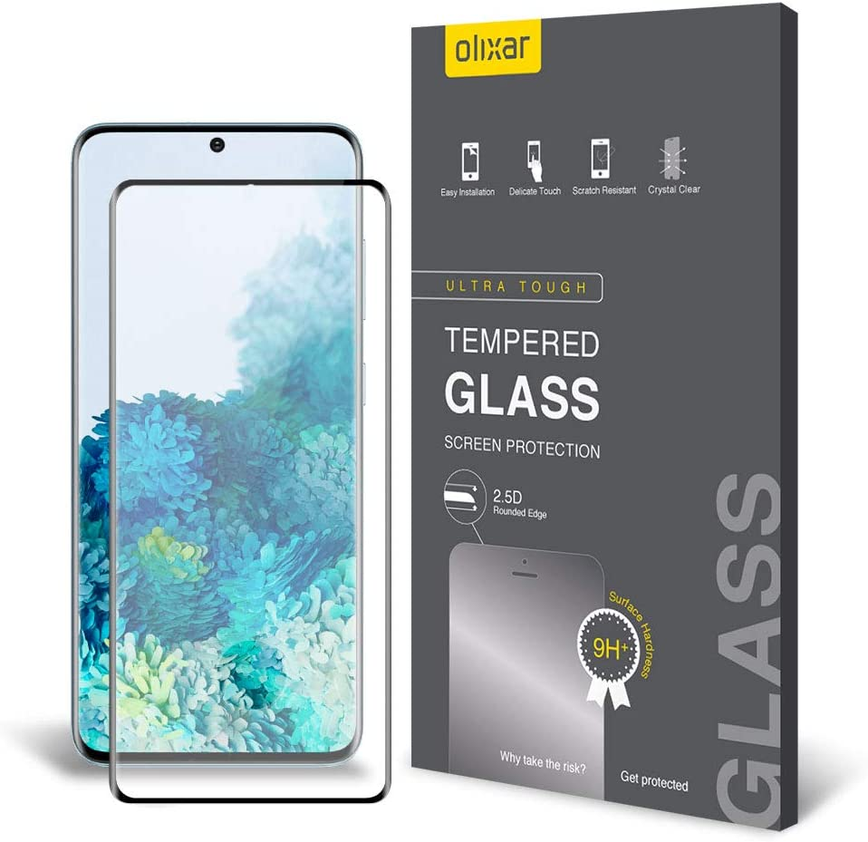 Olixar Screen Protector for Samsung Galaxy S20, Tempered Glass - Reliable Protection, Supports Device Features - Full Video Installation Guide