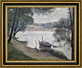 """This 39.25"""" x 47.25"""" premium giclee canvas art print of Gray Weather, Grande Jatte by Georges Seuratis meticulously created on artist grade canvas utilizing ultra-precision print technology and fade-resistant archival inks.Every detail of the artwo..."""