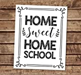 Home Sweet Home School Art Print, Home Teacher Gift Art Print, Typography Wall Art, Unframed Print, 8