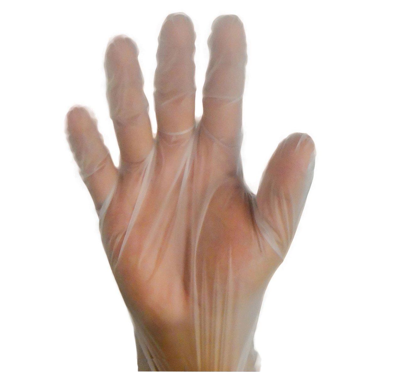 2000フードサービスパウダーフリーバイナル手袋 非医療 ラテックスフリー ビニール不使用 サイズ:Sサイズ 2000個 = 2ケース B01AK35S94