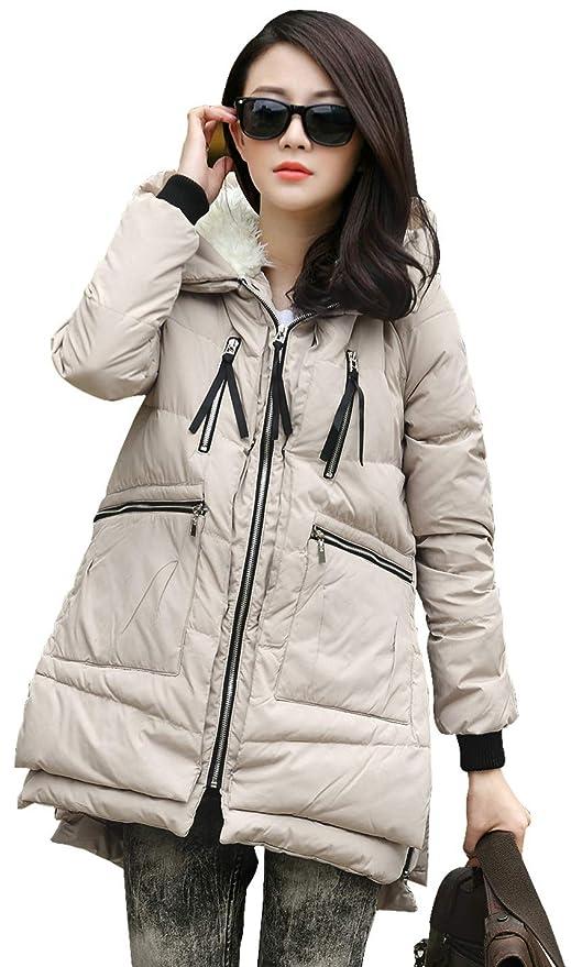 闪购! 时尚加厚女式保暖羽绒夹服$62.39!