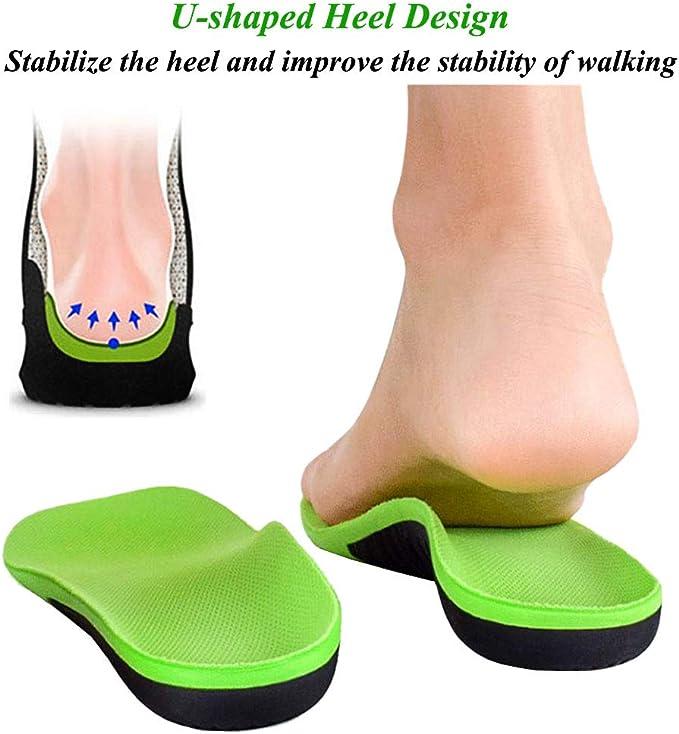 Details about  /Plantillas Ortopedicas Tazas De Gel En Talón Para Pie Plano Zapatos Hombre Mujer
