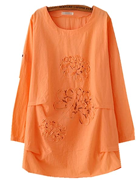 YICHUN camiseta ropa de mujer Tops Simple Floral chino blusa sueltos