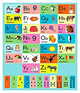 Amazon Com My Abc Alphabet And Numbers Learning Wall