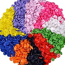 Sewing Buttons, TopRay 150 Sets T5 Plastic Button Snap Studs Resin Poppers Pop Fasteners