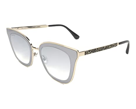 956e9ba0e4f6 Jimmy Choo LORY S 03YG Light Gold Cat Eye Sunglasses for at Amazon ...
