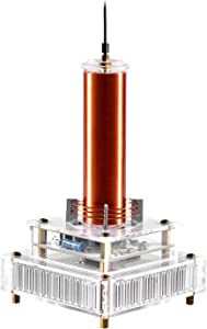 Joytech Music Tesla Coil Acrylic Base Shell Arc Plasma Loudspeaker Wireless Transmission Experiment Desktop Toy Model (YS07)
