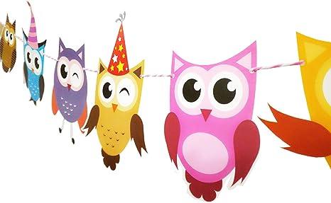 Amazon Com E L 2 Set Of Owl Pal Party Themed Decorations Kit