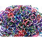 Polka Dot Style Loom Bands Rainbow Colors Mixed Pack of 600