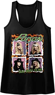 American Classics Poison Squares Talk Dirty to Me Rock Band Womens Tank Top
