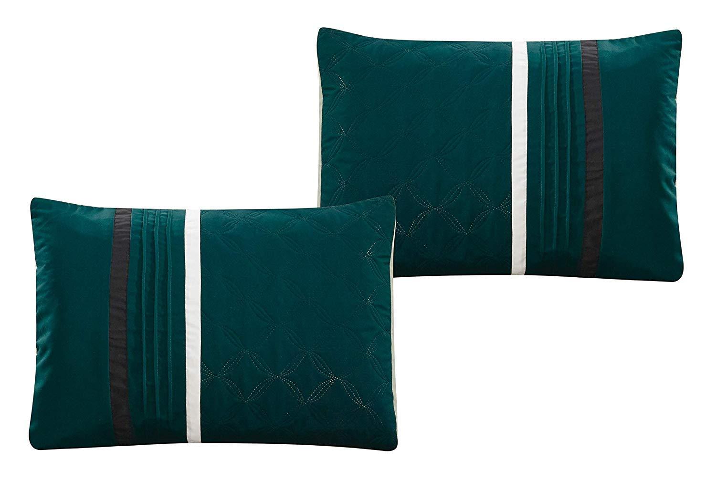 Amazon.com: Grand Park Aqua King Edredón de lujo 7 piezas ...