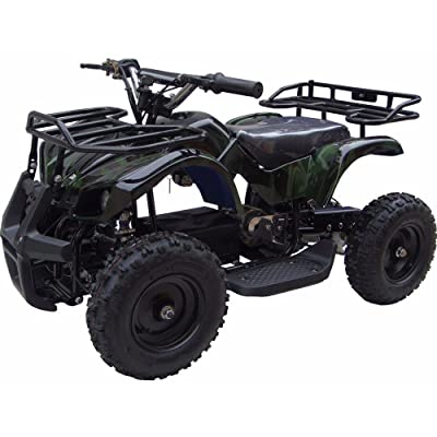 MotoTec 24v Kids ATV v4 in Camo Green: Sports & Outdoors