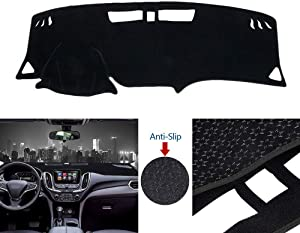 ATMOMO Car Dashboard Cover Double Anti-Skid Dashboard Mat Center Console Protector Cover Mat Sunshield Cover Mat Compatible with Chevrolet Equinox 2017-2020, Black