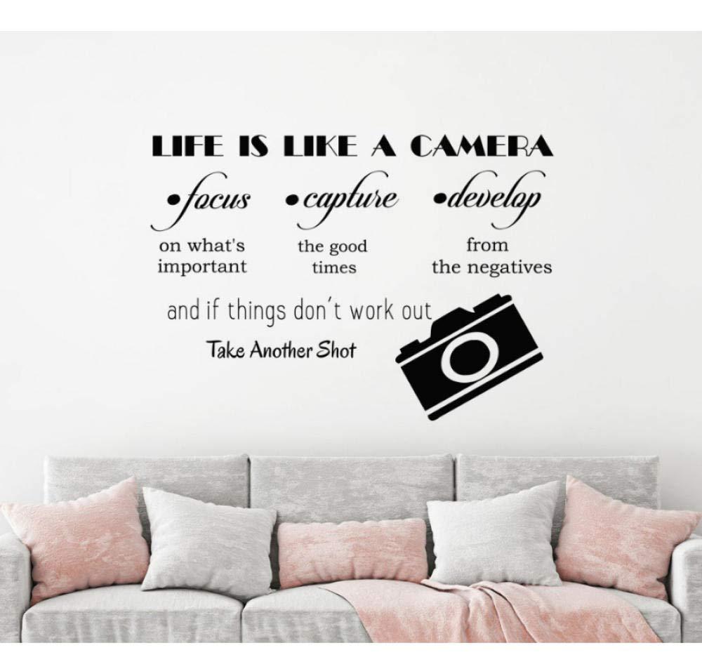 CHJKMN Tatuajes de pared La vida es como una cámara Vinilo DIY ...