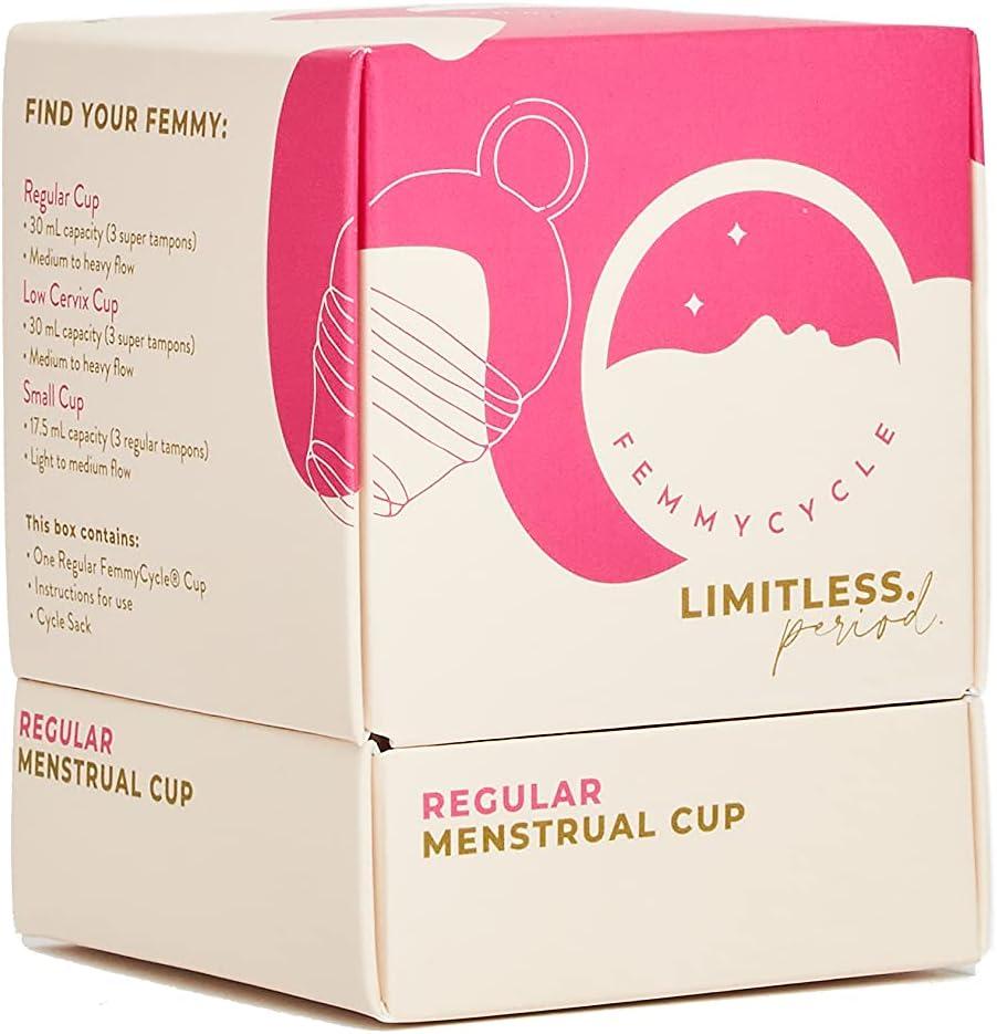 FemmyCycle Menstrual Cup/Copa Menstrual REGULAR (grande) Size