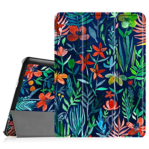 Fintie Slim Shell Case for Samsung Galaxy Tab S2 9.7 - Ultra Lightweight Protective Stand Cover with Auto Sleep/Wake Feature for Samsung Galaxy Tab S2 9.7 Inch Tablet, Jungle Night